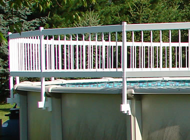 Above Ground Pool Fencing Inch Height White Vinyl Fences