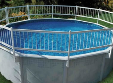 Above Ground Pool Fence pool fencing available in aluminum, steel and vinyl wire materials