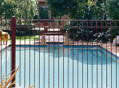 Wire Pool Fences Consist Of Panels Posts Steel Brackets